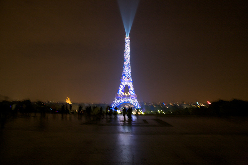 Eiffel Tower - During a light show
