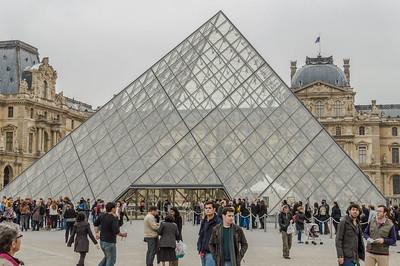 Pyramid at Musee du Louvre