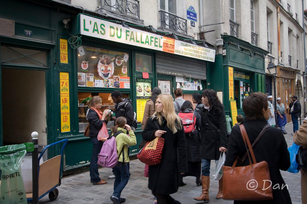 my favorite fallafel in Paris.