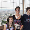 Marissa, Robin and Kit at the Eiffel Tower.