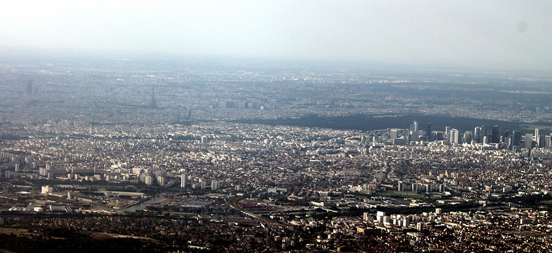 Paris, from the plane as we were nearing Charles de Gaulle Airport.