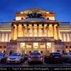 Europe - Poland - Polska - Warsaw - Warszawa - Historic Centre of Warsaw - UNESCO World Heritage Site - Old Town with its churches, palaces & market-place - Teatr Wielki - The Great Theatre - Polish National Opera - Theaterplatz - Dusk - Twilight - Blue Hour - Night