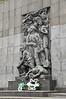 Memorial to the Warsaw Ghetto Uprising, on Ludwika Zamenhofa, Warsaw, Poland.