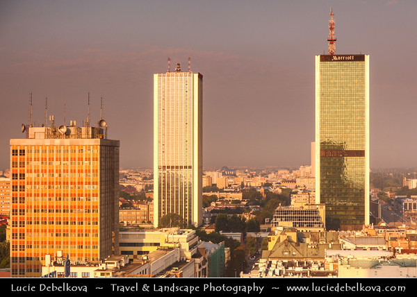 Europe - Poland - Polska - Warsaw - Warszawa - Morning View over Modern City Center