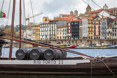 "Traditional ""rabelo"" boats, Porto, Portugal, 2019"