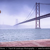 Europe - Portugal - Lisbon - Lisboa - Ponte 25 de Abril - 25th of April Bridge - Iconic suspension bridge over Tagus river