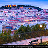 Portugal - Lisbon - Early Morning City View from Miradouro De Sao Pedro De Alcantara