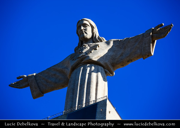 Europe - Portugal - Lisbon - Lisboa - Statue of Christ situated across the Tagus Estuary