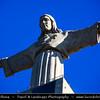 Europe - Portugal - Lisbon - Lisboa - Statue of Christ situated across the Tagus Estuary