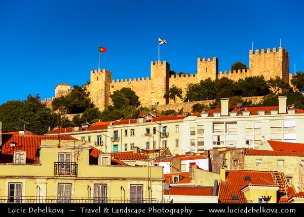 Europe - Portugal - Lisbon - Lisboa - Afernoon Light over Castle de São Jorge