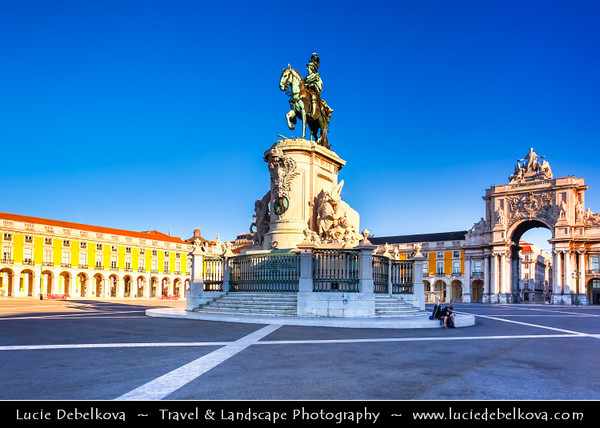 Portugal - Lisbon - Lisboa - Morning Light over Praça do Comércio