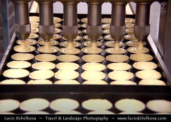 Portugal - Lisbon - Pasteis de Belem Store - Best and most famous place for Pasteis de Nata - Baking Process