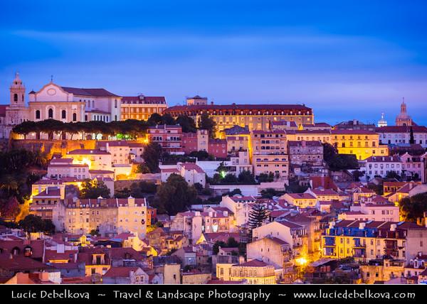 Portugal - Lisbon - Early Morning City View from Miradouro De Sao Pedro De Alcantara