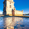 Europe - Portugal - Lisbon - Lisboa - Belem - Torre de Belém - Belem Tower - UNESCO World Heritage Site - Iconic fortified tower built in early 16th century, prominent example of Portuguese Manueline style