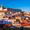 Europe - Portugal - Lisbon - Lisboa - View of the Alfama district from Largo Portas do Sol