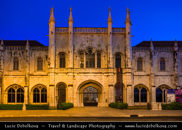 Europe - Portugal - Lisbon - Lisboa - Belem - Mosteiro dos Jerónimos - Jeronimos Monastery - UNESCO World Heritage Site - Iconic landmark and one of the most prominent examples of Portuguese Late Gothic Manueline style of architecture