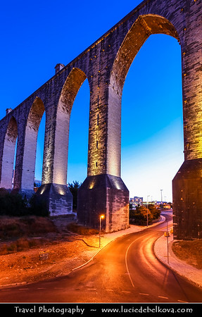 Europe - Portugal - Lisbon - Lisboa - Aqueduto das Aguas Livres - Aguas Livres Aqueduct - One of most remarkable examples of 18th-century Portuguese engineering