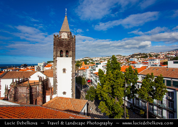 Europe - Portugal - Portuguese archipelago - Madeira Island - South Coast - Funchal - Cathedral of Our Lady of the Assumption - Sé Catedral de Nossa Senhora da Assunção - The oldest Historical cathedral of Funchal, built between the 14th and 15th century with an incredible architecture and Manueline design