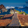 Europe - Portugal - Portuguese archipelago - Madeira Island - Pico do Arieiro - Madeira island's third highest peak - 1,818 m high (5965 feet) - Morning view over spectacular rugged mountain landscape
