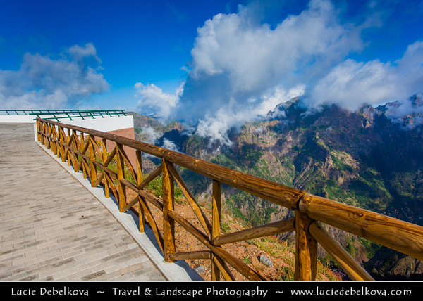 Europe - Portugal - Portuguese archipelago - Madeira Island - Miradouro do Paredão - Stunning new viewpoint located between Eira do Serrado and Pico do Arieiro