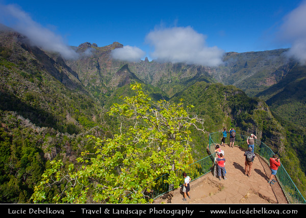 Europe - Portugal - Portuguese archipelago - Madeira Island - Balcões - Balcoes - Ribeiro Frio - Cold River - Natural park located in the north of the island  in a deep valley surrounded by mountains - Levada Walk - irrigation channel and water canal
