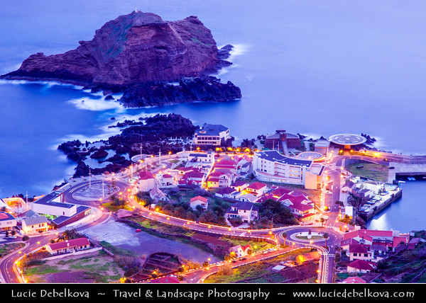 Europe - Portugal - Portuguese archipelago - Madeira Island - Northwest Coast - Porto Moniz - Small village on the north west tip of Madeira famous for its natural volcanic bathing pools surrounded by bizarre lava rocks filled by the tide with crystal clear water