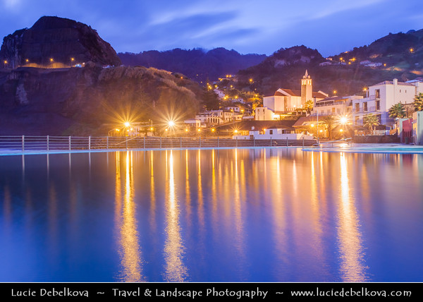 Europe - Portugal - Portuguese archipelago - Madeira Island - Northwest Coast - Porto da Cruz - Port of the Cross - Charming village named after the cross that was placed on the shore to indicate the port for the Portuguese explorers