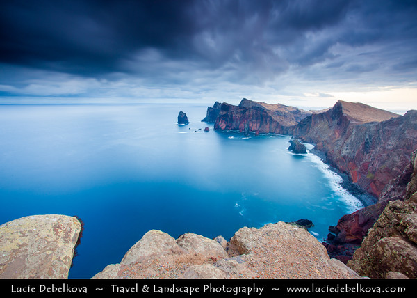 Europe - Portugal - Portuguese archipelago - Madeira Island - East Coast - Ponta de São Lourenço - Sao Lourenco - Nature Reserve with wonderful panoramic views of the Atlantic and spectacular volcanic rock formations