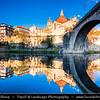 Europe - Portugal - Região Norte - North Region - Amarante - Cathedral of Saint Goncalo next to Ponte São Gonçalo - Large arched bridge over Tâmega River