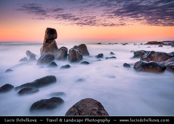 Europe - Portugal - Região Norte - North Region - Praia de Lavadores - Atlantic Ocean Rocky Beach located at mouth of Douro River