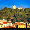 Europe - Portugal - Região Norte - North Region - Viana do Castelo - Santuário de Santa Luzia - Neo-Byzantine Basilica with central dome and magnificent panoramic view over Viana do Castelo & Lima river estuary flowing into Atlantic Ocean