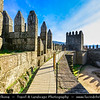 Europe - Portugal - Região Norte - North Region - Castelo de Guimarães - Castle of Guimarães - Portuguese medieval castle built in 10th century to defend monastery from attacks by Moors and Norsemen - Known as birthplace of the nation