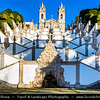 Europe - Portugal - Região Norte - North Region - Braga - Bom Jesus do Monte - Portuguese sanctuary & pilgrimage site with monumental Baroque stairway that climbs 116 meters (381 feet) - Important tourist attraction