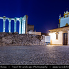 Portugal - Évora - Historical city in the Alentejo area - UNESCO World Heritage Site - Well-preserved old town centre, still partially enclosed by medieval walls, and a large number of monuments dating from various historical periods, including a Roman Temple
