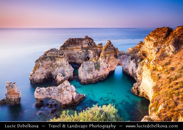 Europe - Portugal - Algarve Region - Lagos Area - Ponta da Piedade - Piety's Point - Rock formations along the Atlantic coastline near town of Lagos