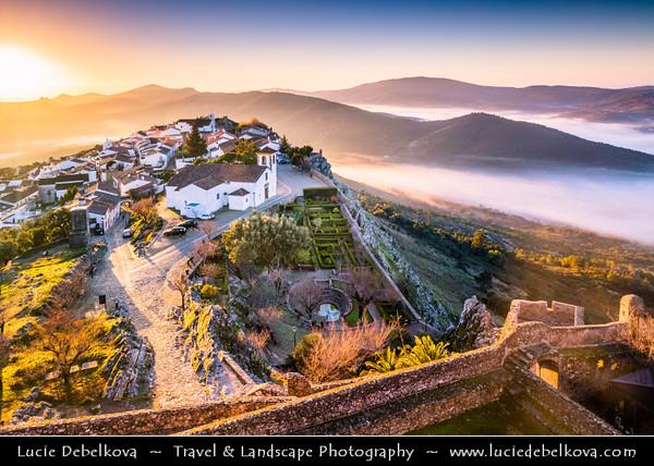 Europe - Portugal - Alentejo Region - Marvão - Ancient fortified walled town with castle perched on granite crag of Serra de São Mamede