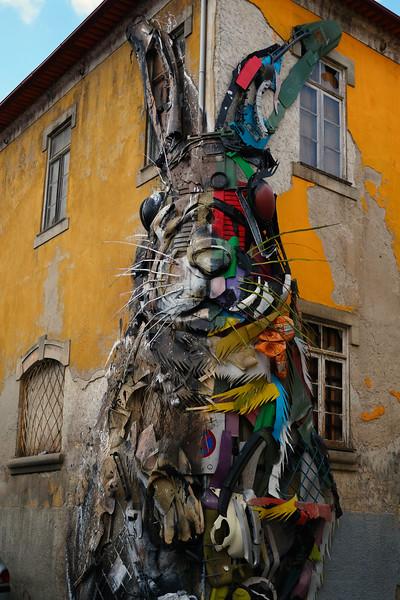 """Half Rabbit"" by Bordalo II. Porto. June 2019"