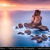Europe - Portugal - Região Centro - Central Region - Peniche - Rocky peninsula on shores of North Atlantic - Cabo Carvoeiro - Cape of Coal - Nau dos Corvos - Rock Formation - One of Peniche's Landmarks