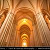 Europe - Portugal - Região Centro - Central Region - Alcobaça Monastery - Mosteiro de Santa Maria de Alcobaça - UNESCO World Heritage Site - Mediaeval Roman Catholic Monastery founded by first Portuguese King, Afonso Henriques, in 1153 - One of most important of Portuguese mediaeval monasteries