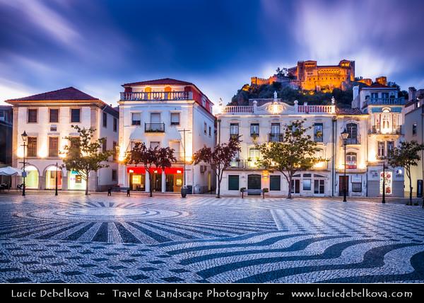 Europe - Portugal - Região Centro - Central Region - Leiria - Castelo de Leiria - Leiria Castle situated high above the cobbled streets of historical town of Leiria - National monument