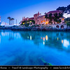 Europe - Portugal - Lisbon Surrounding - Estoril Coast - Cascais - Coastal resort - Santa Marta Lighthouse at Twilight - Dusk - Blue Hour - Night