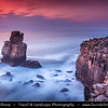 Europe - Portugal - Centro Region - Peniche - Rocky peninsula on shores of North Atlantic - Cabo Carvoeiro - Cape of Coal - Nau dos Corvos - Rock Formation - One of Peniche's Landmarks