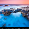 Europe - Portugal - Lisboa Region - Sintra-Cascais Natural Park - Cabo da Roca - Cape Raso - Stone Bridge at Sunrise