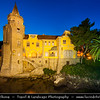 Europe - Portugal - Lisbon Surrounding - Estoril Coast - Cascais - Coastal resort - The Palacio Do Conde De Castro Guimaraes Museum At Night