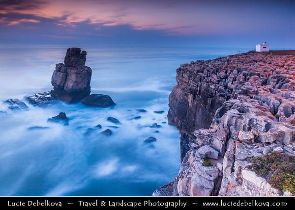 Europe - Portugal - Centro Region - Peniche - Rocky peninsula on shores of North Atlantic - Cabo Carvoeiro - Cape of Coal - Nau dos Corvos - Rock Formation - One of Peniche's Landmarks