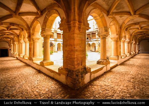 Europe - Portugal - Região Centro - Central Region - Tomar - Historical town under UNESCO World Heritage - Convent of the Order of Christ - Convento de Cristo - Religious Roman Catholic building founded in 12th century as headquarters of Knights Templar