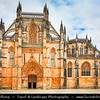 Europe - Portugal - Região Centro - Central Region - Batalha Monastery - Mosteiro Santa Maria da Vitória - UNESCO World Heritage Site - Dominican convent & One of the best and original examples of Late Gothic Portuguese architecture