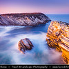 Europe - Portugal - Região Centro - Central Region -  Baleal - Rocky peninsula on shores of North Atlantic - Unusual  Limestone Cliffs at Baleal Peninsula during late evening light