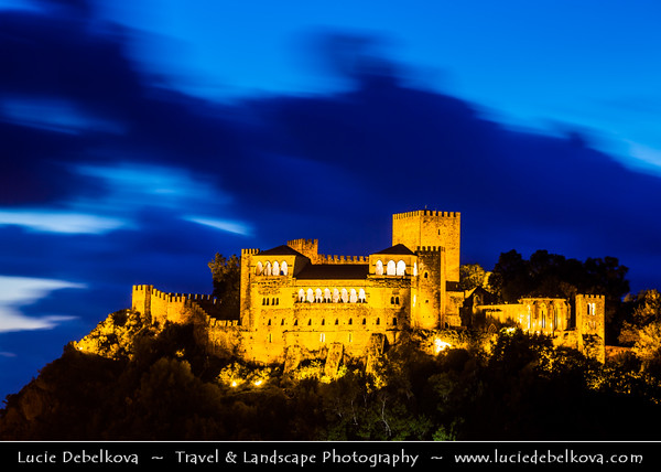 Europe - Portugal - Região Centro - Central Region - Leiria - Castelo de Leiria - Leiria Castle situated high above the cobbled streets of historical town of Leiria - National monument