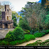 Europe - Portugal - Sintra-Cascais Natural Park - Cultural Landscape of Sintra - Quinta da Regaleira - UNESCO World Heritage Site - Magical town full of palaces & other fine residences and full of history from prehistoric times